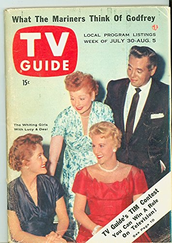 1955-tv-guide-jul-30-luci-and-desi-with-whiting-girls-ny-metro-edition-very-good-to-excellent-4-out-