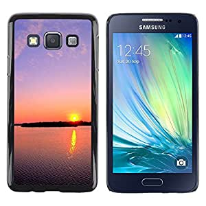 Paccase / SLIM PC / Aliminium Casa Carcasa Funda Case Cover - Sunset Beautiful Nature 112 - Samsung Galaxy A3 SM-A300