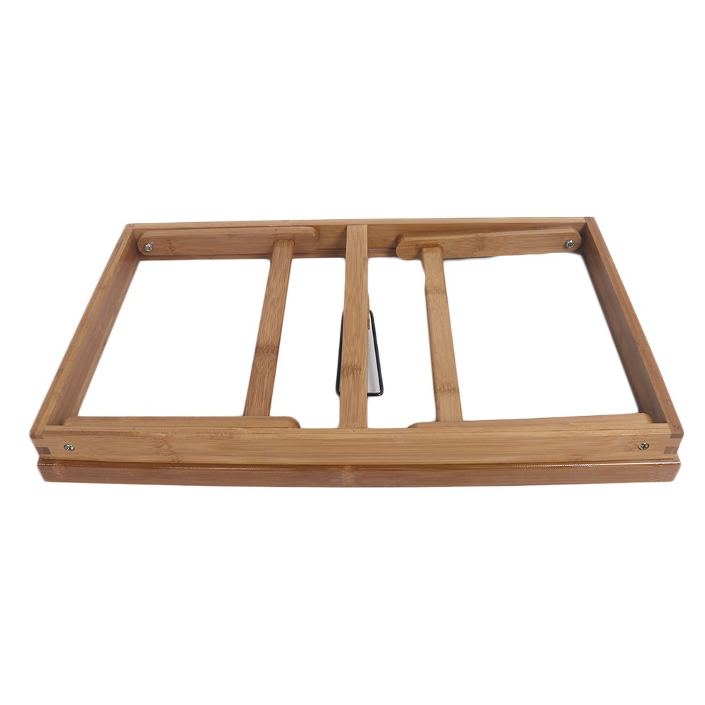 Goujxcy Breakfast Tray,Bed Tray Table with Folding Legs and Breakfast Tray Bamboo Bed Table-Table Use As Lap Drawing Table or Eating Tray