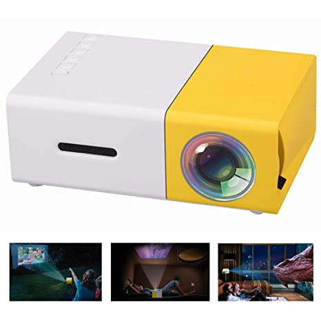 Jasbo Mini proyector, 2500 lúmenes Handheld Micro proyector 1080P ...