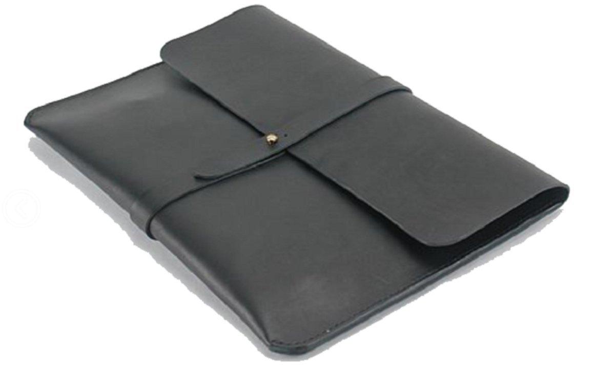 ファイルフォルダポケットメッセンジャーバッグケース牛革メンズレディースカスタマイズブラックz625   B07CXP4DJB