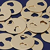 20pcs tibetara 32mm Round brass Hollow out the double heart Stamping Blank Diy Jewelry Supplies