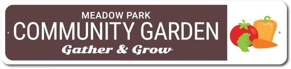 Community Garden Sign, Backyard Sign, Garden Sign, Gift for Gardener - 6 x 24 inches
