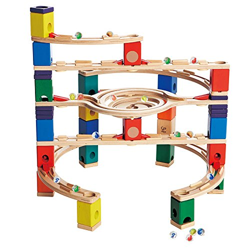 Hape Quadrilla Wooden Marble Run Construction - Loop de Loop - Quality Time Playing Together Wooden Safe Play - Smart Play for Smart Families