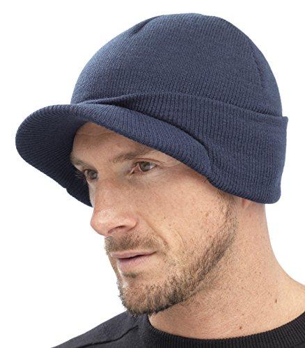 Hombre Marino Gorro GL221 Punto Azul con pico Para De w16qaxAaP