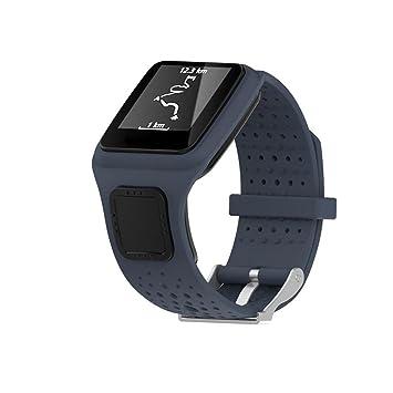 Correa de repuesto de silicagel Saihui para reloj TomTom Multi Sport/Cardio GPS, color gris: Amazon.es: Deportes y aire libre