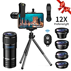 ARORY aims to offer customers high quality phone lens with competitive price. Professional and portable, enjoy the shooting with ARORY lens. Function of Different Types of Lens 1/ With 12x telephoto lens attached to the phone, it does a great...