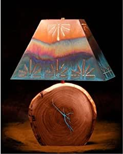 """Mesquite Lamp with Copper Shade 27"""" total Height with"""