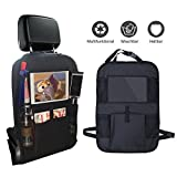 PALMOO Premium Car Back Seat Organizer with Tablet Holde - Multipurpose Use as Auto Seat Back Protector - Kids Toy Storage, Back Seat Protector / Kick Mat / Car Organizer (1 PCS)