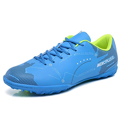 Zapatos de Zapatos de Men de adolescentes Zapatos con para fútbol New entrenamiento fútbol Unisex Segundo Botas para 2018 deportivos cordones niño BUOqE