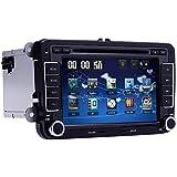 Car DVD GPS Radio Player Window CE 6.0 OS VW Volkswagen CC Jetta Passat Tiguan Polo Golf Skoda Color Black 7 inch Free Map Navigation Mp3 Player