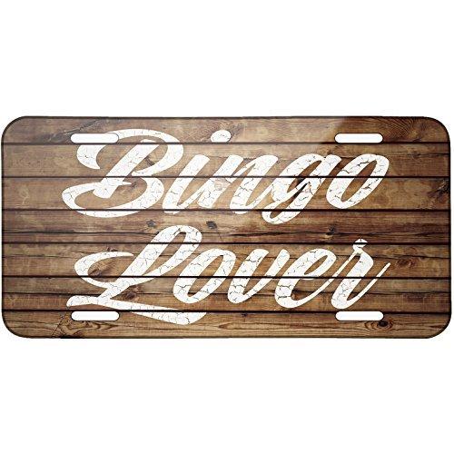 Saniwa Painted Wood Bingo Lover Metal License Plate 6X12 Inch by Saniwa