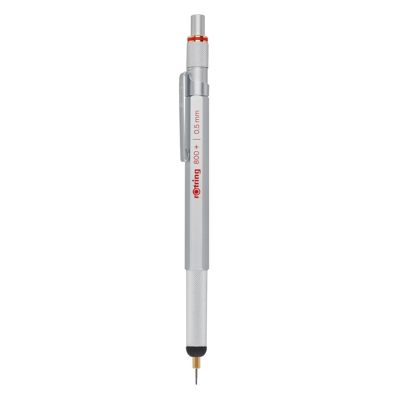 rOtring 1900183 800+ Mechanical Pencil and Touchscreen Stylus, 0.5 mm, Silver Barrel by Rotring (Image #3)