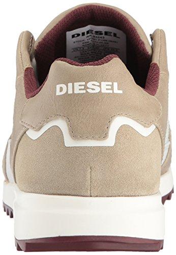 Diesel Uomo V-staffetta S-fleett Fashion Sneaker Bianco Sporco / Cincillà / Andorra Bordeaux