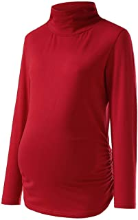 Maternity Ladies Sweater Women Maternity Long Fashion Half Sleeves Stand Collar Maternity Blouse Elegant Casual Solid Colors Pregnancy Shirt Tops