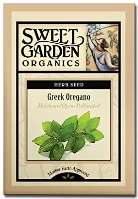 Sweet Garden Organics Greek Oregano - Heirloom Seeds (100 count)