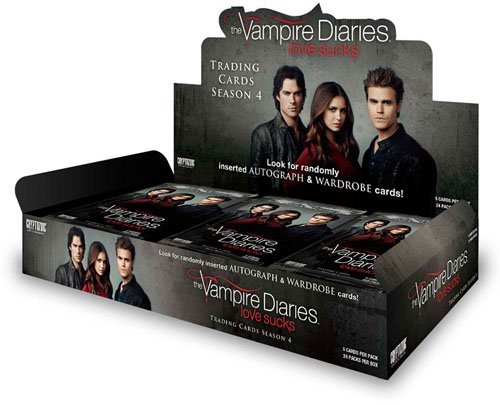 Box 4 Trading Season Cards - Vampire Diaries Season 4 Trading Card Box with 24 Packs!