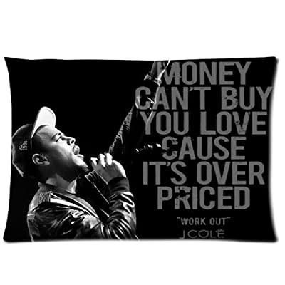 Custom Cotton & Polyester Soft Rectangle Pillow Case Cover 20X30 (One Side) - Movie Star Music Singer Band Series - America Hip Hop Singerjermaine Cole J. Cole Personalized Pillowcase For Fans Design Forever Collection & Souvenir