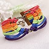 Best Leather Bracelets For Gay Lesbians - Infinity Collection LGBT Bracelet, Lesbian Pride Jewelry, Rainbow Review