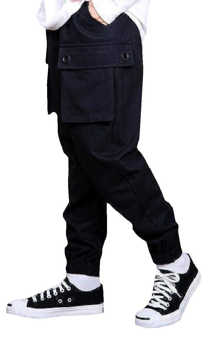 Sweatwater Big Boys Cargo Multi Pockets Elastic Waist Jogging Pant