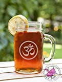 Om Aum Symbol Etched Glass Mason Jar Mug Review and Comparison