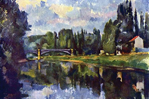 - Buyenlarge Bridge over the Marne, by Paul Cézanne, Wall Decal, 48'' W x 32'' H
