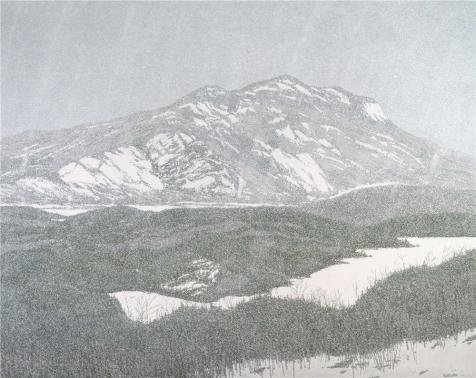Oil Painting 'Neil Welliver,Late Squall,1984' Printing On Perfect Effect Canvas , 18x23 Inch / 46x58 Cm ,the Best Powder Room Artwork And Home Gallery Art And Gifts Is This Beautiful Art Decorative Prints On Canvas