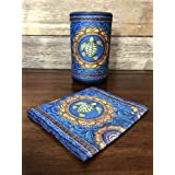 Cover for Amazon Echo (2nd Gen) Digitally Printed Fabric, Sea Turtle Mandala by Dan Morris