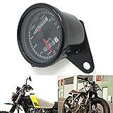 UXOXAS Black 12v Motorcle Scooter Speedometer Odometer Gauge 0-160KM/h Motorbike Backlit Dual Speed meter with Indicator
