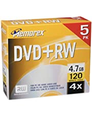 Memorex 4.7GB DVD+RW Media (5-Pack) (Discontinued by Manufacturer)