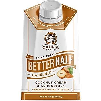 Califia Farms Better Half Coffee Creamer, Coconut Cream and Almondmilk, Half & Half,