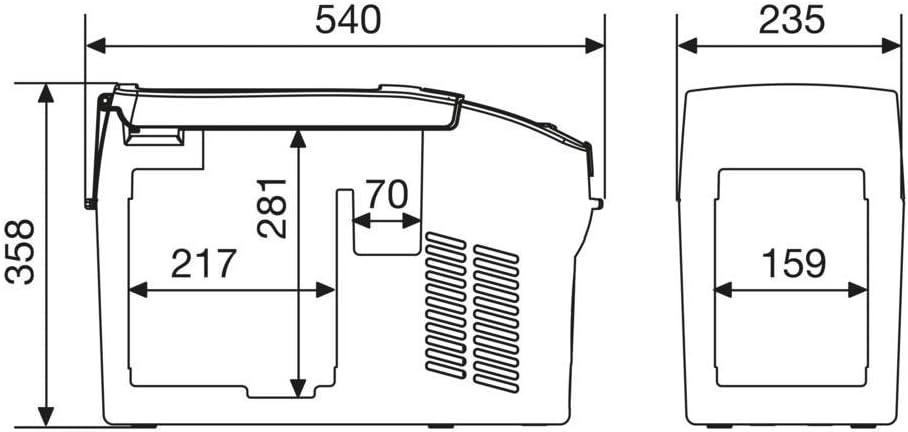 12 V//24 V Dometic CDF-36 31 Litre Portable Compressor Fridge Freezer