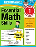 Essential Math Skills : 1st Grade Workbook for Ages 6-7, BrainChimp, 1469946262