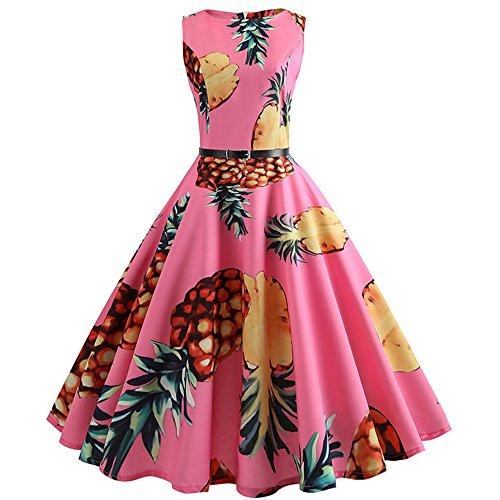 - NDJqer Women's Classy 1950s Vintage Rockabilly Swing Dress Cocktail Party Dress 009 XXL