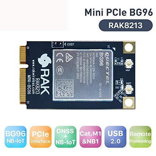 Quectel BG96 Based Mini PCIe Cellular IoT Module Low Power USB2 0 LTE CatM1  Module Built in GNSS with EC21 Mini PCIe Dongle RAK8213