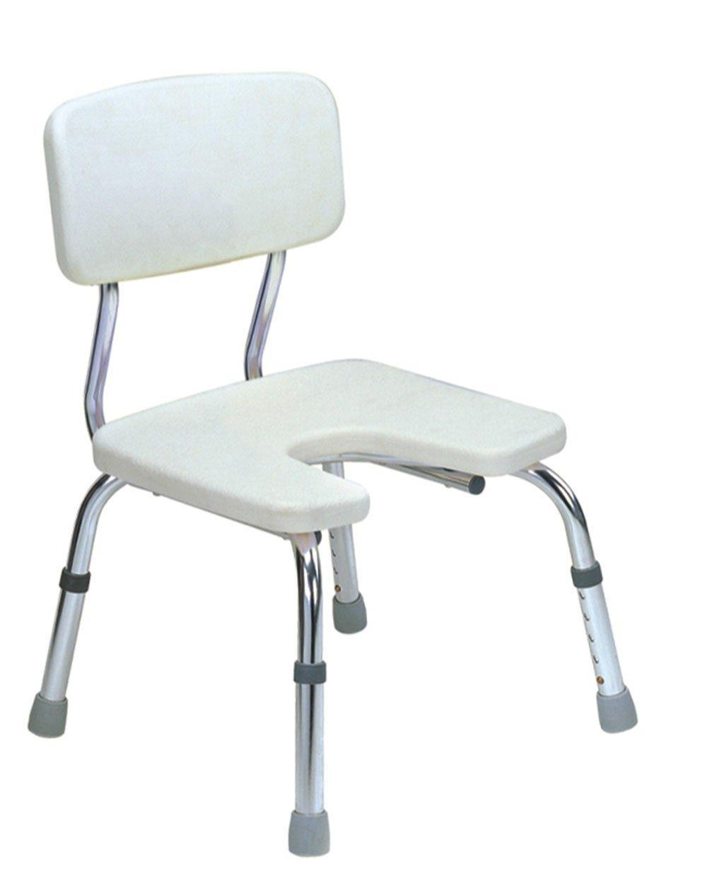 オールドマントイレシャワーチェア高さ調節可能なノンスリップ妊婦浴室椅子バスルームアルミ合金シャワーチェア便利な快適 B07CNKT7MR