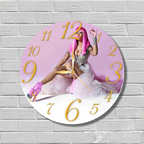 Nicki Minaj 11.8'' Handmade Wall Clock - Get unique décor for home or office – Best gift ideas for kids, friends, parents and your soul - Nicki Glasses Minaj