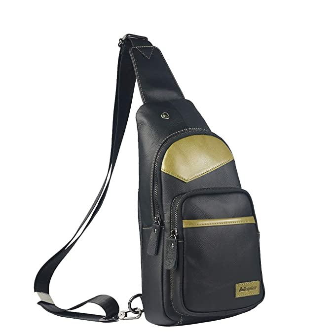 Mochila de cuero para hombres Bolso con bandolera de un solo hombro Mochila deportiva de ocio Mini (Color : Bronze, Size : M): Amazon.es: Ropa y accesorios