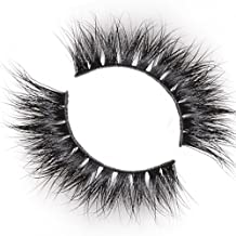 Arimika Handmade 3D Mink Fake Eyelashes -Reusable with Clear Invisible Flexible Band, Lightweight Soft Fluffy Natural Looking