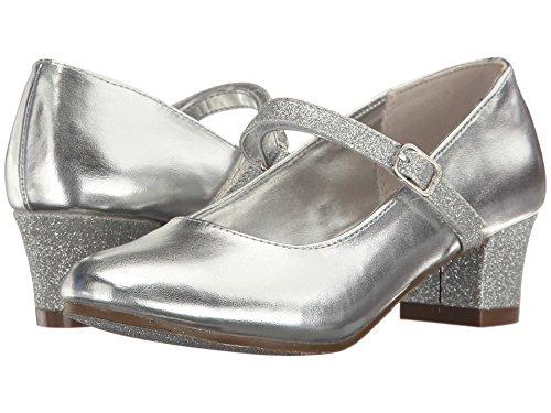 Pictures of Nine West Girls' PATRECE Heel Silver 5. Silver 5.5 M US Big Kid 1
