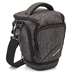 Camera Bag, Evecase Digital SLR Camera Holster Case Bag For Canon EOS SL1 T6 T5i T5 T4i T3i T3 T2i 80D 70D 60D 7D Mark II and more DSLR Cameras
