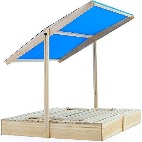 74 99 bac sable 120x120 avec paresoleil et bancs intgrs jeux enfants. Black Bedroom Furniture Sets. Home Design Ideas