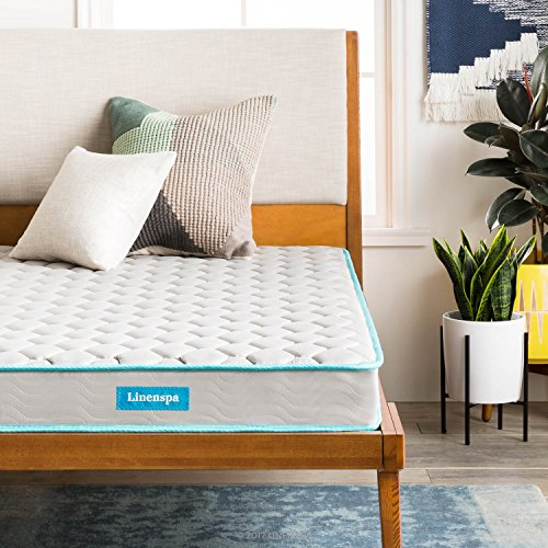 LINENSPA 6 Inch Innerspring Mattress - Twin - Linen Set Daybed