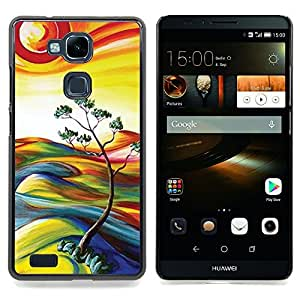 Stuss Case / Funda Carcasa protectora - Peinture Nature Sun Tree Summer - HUAWEI Ascend MATE 7