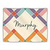 "Kess InHouse KESS Original ""Murphy"" Colorful Geometry Pet Blanket, 50 by 60-Inch"