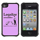 Best Armadillo Cases iPhone 4 Cases - STPlus Armadillos Legalize Tax Funny Shock Proof Soft Review