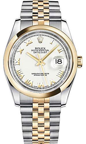 (Rolex Datejust 36 White Roman Numeral Dial Jubilee Bracelet 116203)