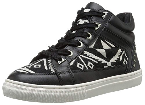 Shoe Bronx Canvas (Bronx Women's Zoo Nee, Black/White, 38 EU/8 M US)