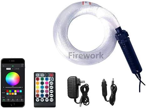 GIDERWEL Smart Bluetooth APP LED Fiber Optic Lights Kit for Car Use//Ceiling Star Lighting,6.5ft 200pcs 0.03in Optical Fiber with 7W RGBW Smart Light Engine