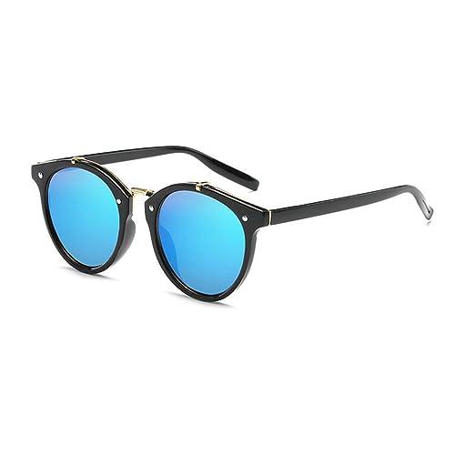 Bluepistil Donna Occhiali Da Sole Specchio Tondo Retrò Eyewear di Plastica All'aperto UV400